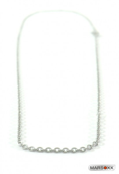 MARSOXX Edelstahlkette Halskette Ankerkette sehr dünn fein Herren Karabinerverschluss hochwertig Minimization Männerschmuck