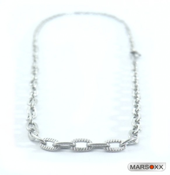 MARSOXX stainless steel necklace anchor chain fluted subtly thin fine men lobster clasp high quality Operation jewelry