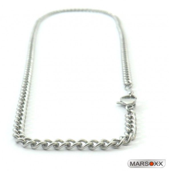 MARSOXX Stainless Steel Chain Necklace Curb Chain Thin Fine Mens Lobster Clasp High Quality Involvement jewelry