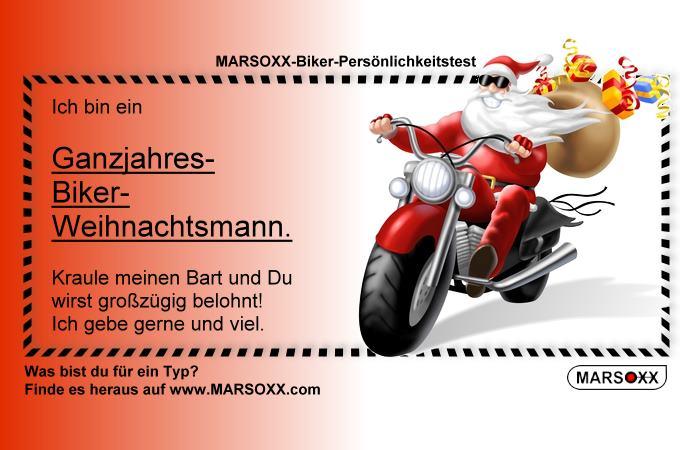 MARSOXX Biker Rocker Schmuck Weihnachtsmann Biker
